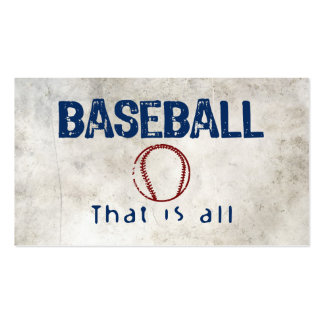 Baseball, That Is All Pack Of Standard Business Cards