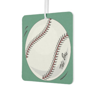 Baseball  'The Boss' ~with editable background Car Air Freshener
