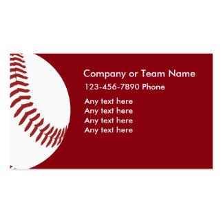 Baseball Theme Business Cards