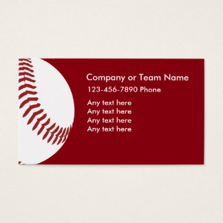 Baseball Theme Business Cards