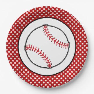 Baseball Theme Sports Theme Paper Plate