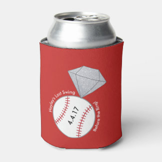 Baseball Themed Bachelorette Party Can Cooler