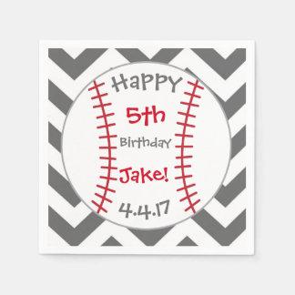 Baseball Themed Napkins- Birthday Goods Disposable Serviettes