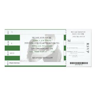 Baseball Ticket Card