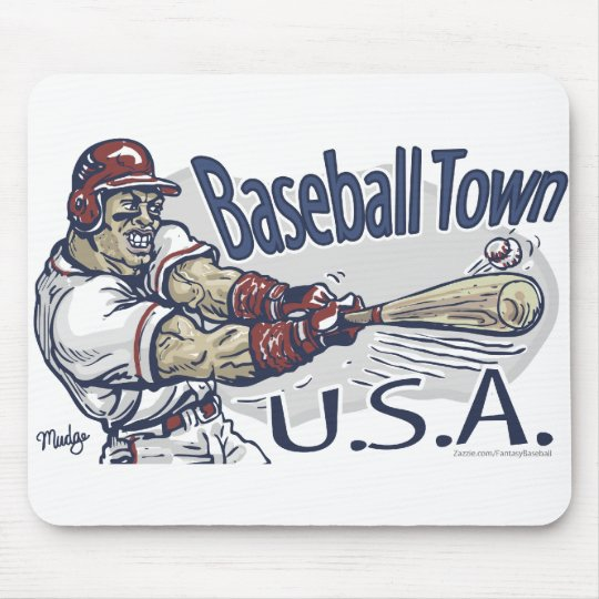 Baseball Town USA Mousepad