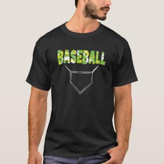Baseball tshirt - Home plate - Bright yellows