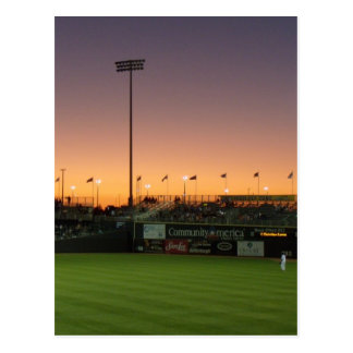 Baseball twlight post card