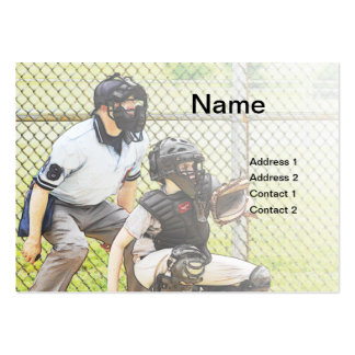 baseball umpire pack of chubby business cards