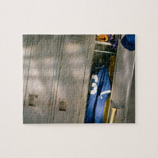Baseball uniform and equipment in locker jigsaw puzzle