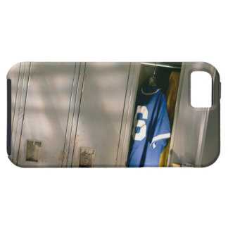 Baseball uniform and equipment in locker tough iPhone 5 case