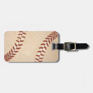 baseball vintage luggage tag