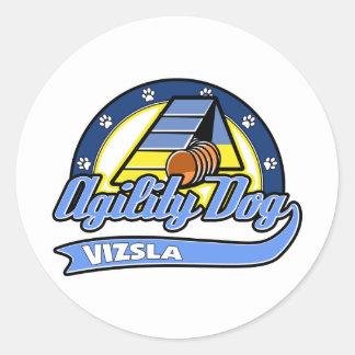 Baseball Vizsla Agility Classic Round Sticker