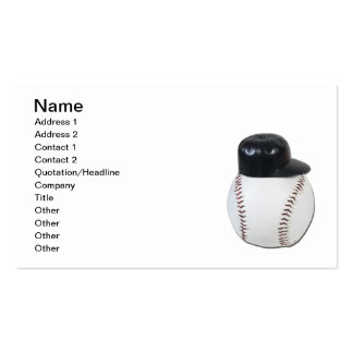 Baseball Wearing Baseball Hat Double-Sided Standard Business Cards (Pack Of 100)