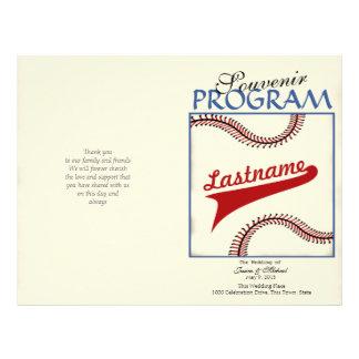 Baseball Wedding Program 21.5 Cm X 28 Cm Flyer