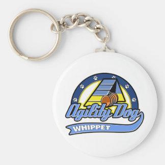 Baseball Whippet Agility Basic Round Button Key Ring