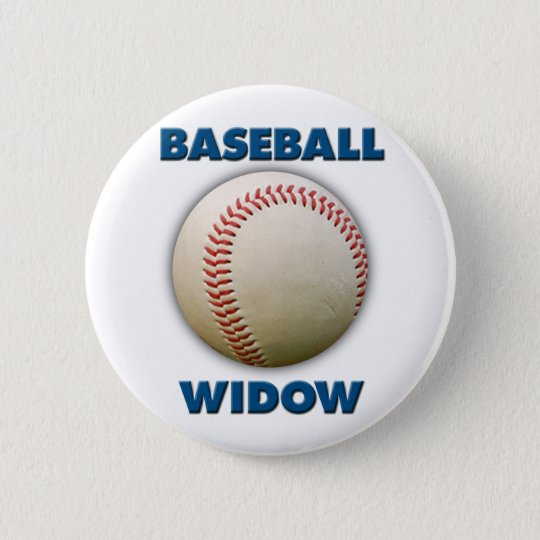 Baseball Widow 6 Cm Round Badge