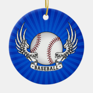 Baseball Wings Ornament