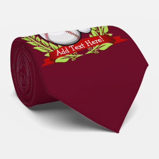 Baseball With A Christmas Style Santa Hat Tie