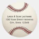 Baseball with Address Round Stickers