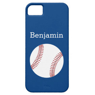 Baseball with Custom Name - Royal Blue iPhone 5 Cases