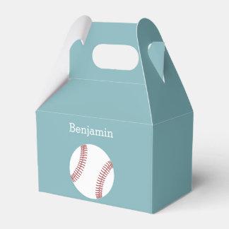 Baseball with Custom Name - Royal Blue Wedding Favour Box