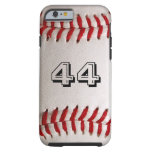Baseball with customisable number tough iPhone 6 case
