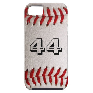 Baseball with customizable number tough iPhone 5 case