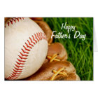 Baseball with Glove Happy Father's Day Card