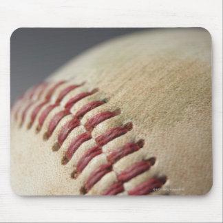 Baseball with impact mark. mouse pad