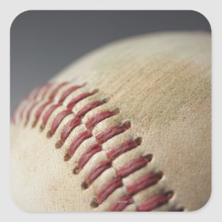Baseball with impact mark. square sticker