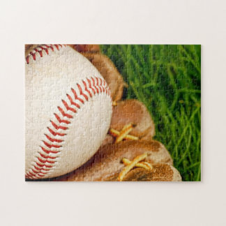 Baseball with Mitt Jigsaw Puzzle