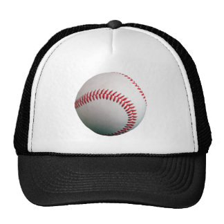 Baseball with Red Stitching Mesh Hat