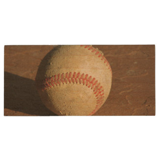 Baseball Wood USB 2.0 Flash Drive