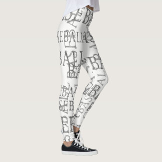 Baseball Word Art Leggings