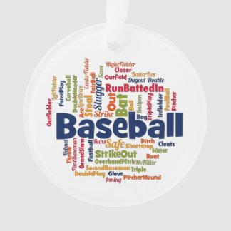 Baseball Word Cloud Ornament