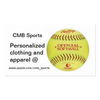 Baseball, www.zazzle.com/cmb_sports, Personaliz... Double-Sided Standard Business Cards (Pack Of 100)