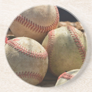 Baseballs and Glove Coaster