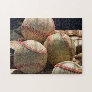 Baseballs and Glove Jigsaw Puzzle