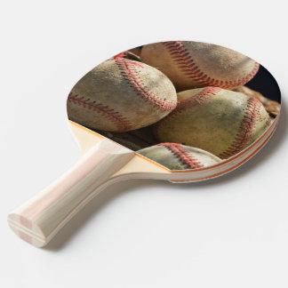 Baseballs and Glove Ping Pong Paddle