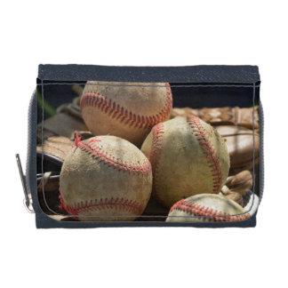 Baseballs and Glove Wallet