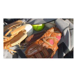 Baseballs and Mitt Pack Of Standard Business Cards