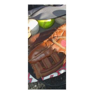 Baseballs and Mitt Personalised Rack Card