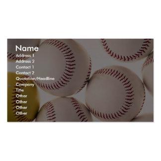 Baseballs Business Card Templates