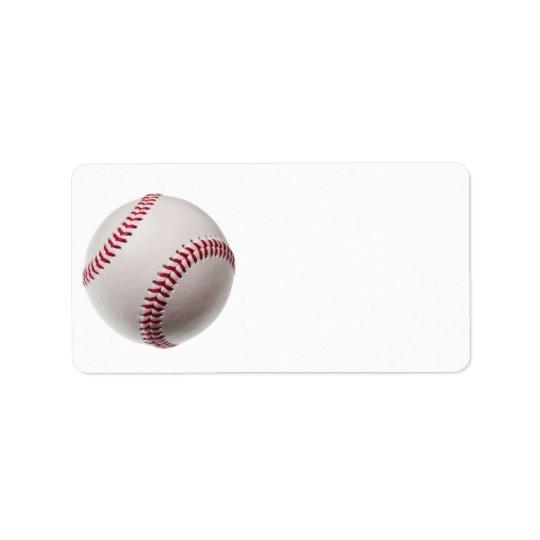Baseballs - Customise Baseball Background Template Address Label