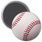 Baseballs - Customise Baseball Background Template Magnet