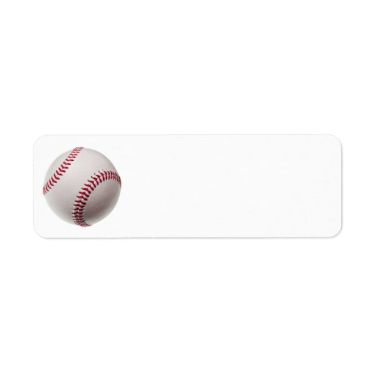 Baseballs - Customise Baseball Background Template Return Address Label