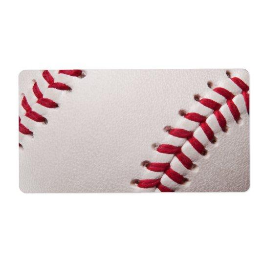 Baseballs - Customise Baseball Background Template Shipping Label