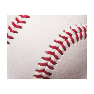 Baseballs - Customize Baseball Background Template Canvas Print