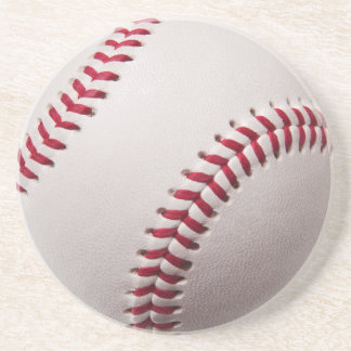 Baseballs - Customize Baseball Background Template Coaster