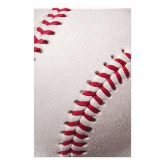 Baseballs - Customize Baseball Background Template Stationery